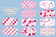 Valentine's Day Face Mask Designs - set 1, Sublimation PNG Product Image 2