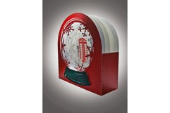 3D Snow Globe Classic Red Telephone Box greetings card Product Image 3