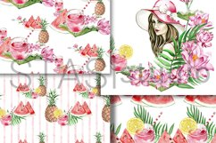 Summer Fashion Paper Pack Digital Seamless Patterns Planner Product Image 3