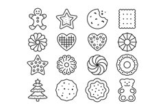 16 Cookie Icons, colored and outline style Product Image 3