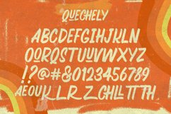 Quechely Sign Retro Layered Font Product Image 6