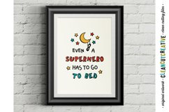 Funny Boys Superhero Bedtime Quote|SVG DXF EPS PNG cut file Product Image 2