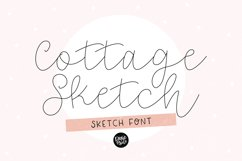 """""""COTTAGE SKETCH"""" Sketch Font - Single Line/Hairline Font Product Image 1"""