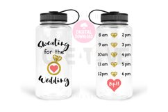 Sweating for the Wedding svg   Water Tracker svg Product Image 1