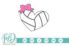 Volleyball Mom - Volleyball Sister - Volleyball Heart SVG Product Image 1