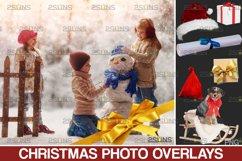 Christmas overlay & Snow overlay, Photoshop overlay Product Image 1