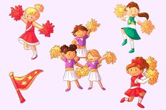 Cheerleader Kids Clip Art Collection Product Image 3