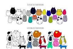 Cute doodle animals set Product Image 2