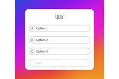 Question sticker for typing answers. Quiz option social medi Product Image 1