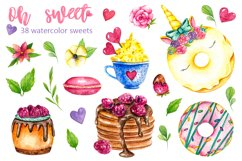 Sweets Confectionery watercolor clipart. Donat day clip art Product Image 2
