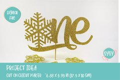 One Cake Topper with Snowflake svg   1st Birthday SVG Product Image 3