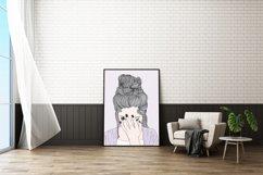 Wall art A woman crying sad Product Image 4