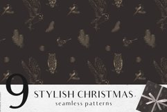 Christmas digital papers - Winter seamless patterns Product Image 3