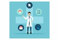 Dental Clinic Services flat design Product Image 1
