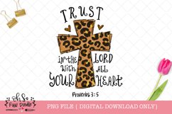 Trust in the Lord with all your heart, Sublimation PNG Product Image 1