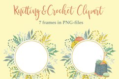 Watercolor Knitting and Crochet Clipart Product Image 6