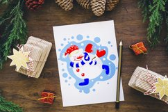 Christmas snowmen SVG Product Image 3