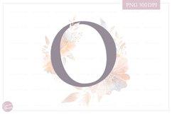 Letter O Floral MONOGRAM - elegant wedding flower initial Product Image 1