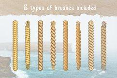 Marine Rope Pattern Brushes Set Product Image 2