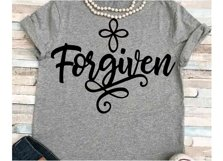 Forgiven svg SVG DXF JPEG Silhouette Cameo Cricut Jesus svg iron on cross svg Forgiven workout shirt Cross svg Product Image 1