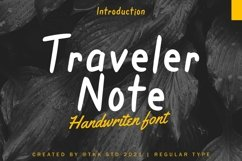 Traveler Note - Handwritten Font Product Image 1