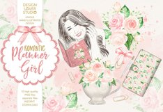 Watercolor Planner Girl design Product Image 1