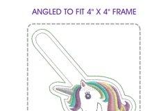 Unicorn Head Keyfob In the Hoop ITH Design Product Image 4