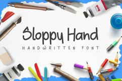 Sloppy Hand - a Handwritten Font Product Image 1