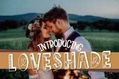 Web Font LOVESHADE - A Hearty Hand Drawn Shadow Font Product Image 1