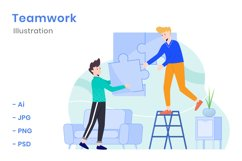 Teamwork Illustration Product Image 1