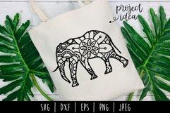 Elephant Mandala Zentangle Bundle Set of 4 - SVG Product Image 5