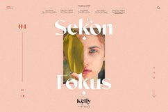 Kelly - Three Weights Classy Sans Serif Product Image 5