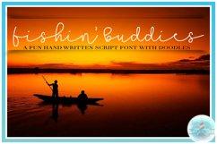 Fishin' Buddies Hand Written Script Font PLUS Doodles Product Image 3