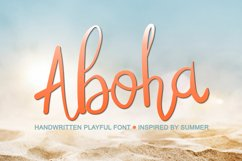 Abiola Script- Summer Handwritten Font, Tropical Font Product Image 1