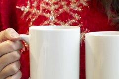 Woman holding a 15oz and 11oz mug, Red christmas jumper Product Image 4