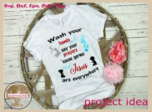 Sign SVG | Wash And Pray Bubbles Reminder Quote Product Image 5