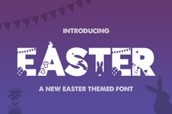 Easter Silhouette Font Product Image 1