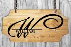 W Split monogram SVG Split letter svg Monogram font Product Image 2