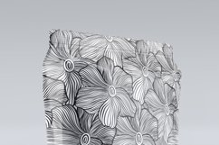 Black&White floral seamless pattern collection, 4 patterns Product Image 2