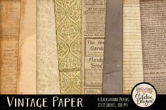 Vintage Paper Backgrounds - Vintage Texture Digital Papers Product Image 1