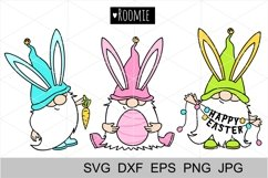 Easter bunny Gnomes svg, cut files, Silhouette, Cricut file Product Image 1
