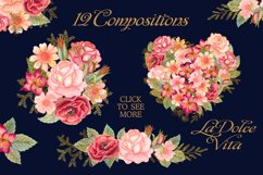 Watercolor glitter floral collection Product Image 3