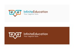 Infinite Education - Simple Abstract Owl Bird Stock Logo Product Image 2
