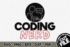 Coding Nerd - SVG Cut File n193 Product Image 1