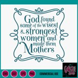 God Made Mothers SVG DXF PNG EPS Commercial Product Image 2