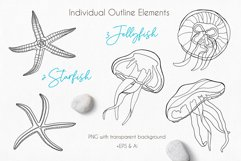 Underwater - Hand drawn vector clipart collection Product Image 3