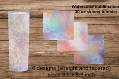 Watercolor sublimation for 30 oz tumbler Product Image 1
