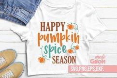 Happy Pumpkin spice season SVG, Fall Vibes svg, Fall svg, Au Product Image 1