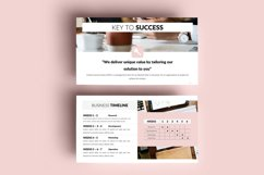 PPT Template | Business Plan - Pink and Marble Round Product Image 7