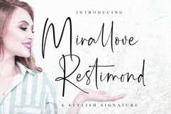 Mirallove Restimond | Modern Casual Font Product Image 1
